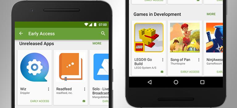 Nueva sección de Early Access (Acceso Temprano) añadido a Google Play