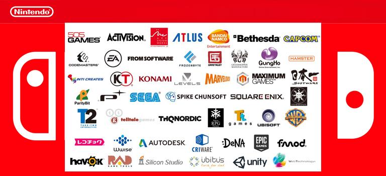 Nintendo anuncia un montón de socios para el Switch, pero ningún juego