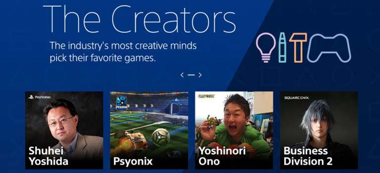 Desarrolladores curadores añadidos a PlayStation Store